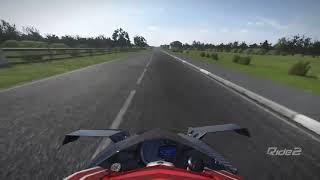 PS4 RIDE 2 / Kawasaki Ninja H2R Game Replay (On-Board TopSpeed 397km/h)