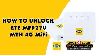 How To Unlock ZTE MF927U MTN 4G MiFi - [romshillzz]