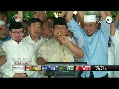 Calon Presiden parti-parti Islam Indonesia MENANG  - keputusan tidak rasmi