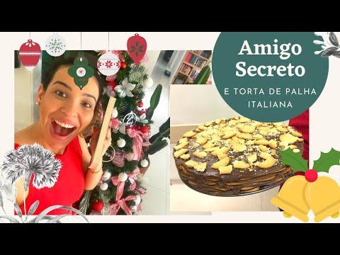 AMIGO SECRETO DE NATAL DOS BOOKTUBERS - Unboxing fazendo minha receita favorita TORTA DE PALHA