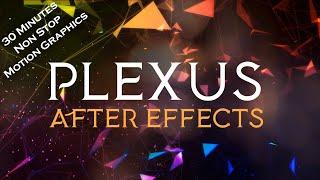 Plexus background loop | plexus after effects video | plexus Obj | polygonal background video 30mins