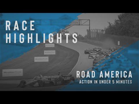 インディーカー第9戦 ロード・アメリカ 決勝レースハイライト無料動画 5分