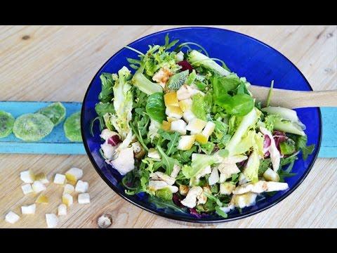 Receta de Ensalada de Pollo con Frutas Deshidratadas