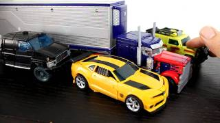Transformers DOTM Voyager Optimus Prime With MechTech Trailer