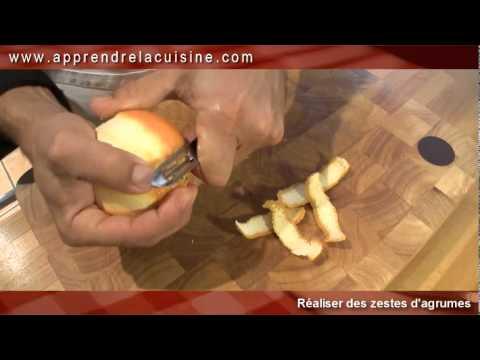 comment prendre le zeste d'une orange