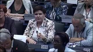 Odlot Szydło🤦♀️ Ona żyje w przekonaniu, że w PE to jakieś tłuki siedzą i nic o niej nie wiedzą.