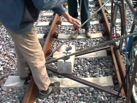 Schienenfahrrad in Griechenland