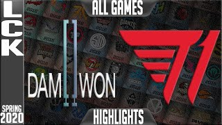 DWG vs T1 Highlights ALL GAMES | LCK Spring 2020 W7D5 | Damwon Gaming vs T1