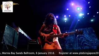 Performing in ASEAN India Pravasi Bharatiya Divas, Singapore