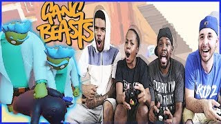 THESE GIANTS TRIED TO VIOLATE US!! - Gang Beasts Wave Gameplay