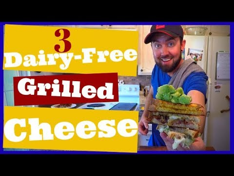 Dairy-Free Grilled Cheese Made 3 Different Ways With Bacon, Jalapeno and Guacamole