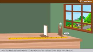 To determine the focal length of a convex lens by focusing a distant object