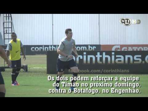 Guerrero e Polga treinam normalmente e podem enfrentar o Botafogo