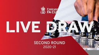 LIVE | Emirates FA Cup Second Round Draw | Emirates FA Cup 20-21