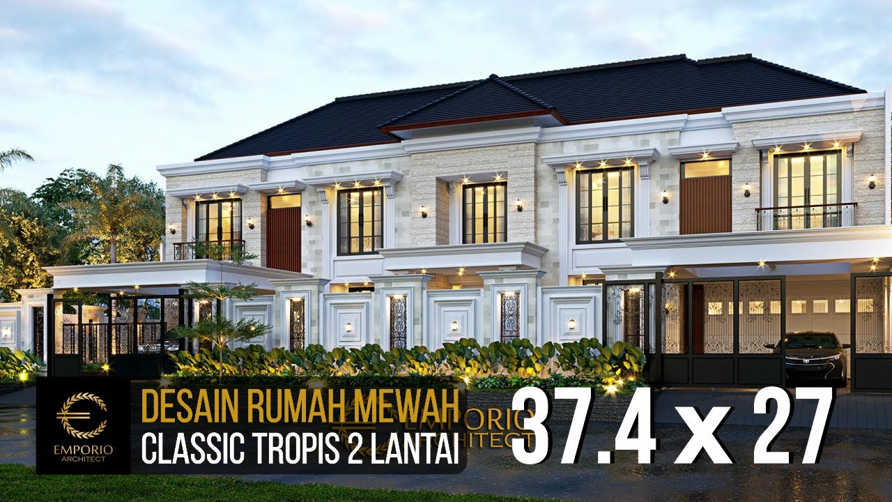 Video 3D Desain Rumah Classic 2 Lantai Bapak Kurnia di Jakarta