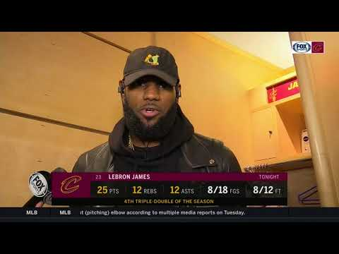 LeBron James postgame on Lonzo Ball, Larry Bird, moment with young fan in hospital   CAVS-LAKERS