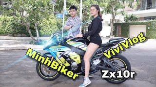 PKL 1000cc chủ xe cũng lung linh  - kawasaki zx10r vivivlog | MinhBiker