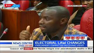 Kitutu Masava voter presents his views in regards to proposed laws