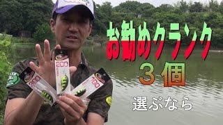 ABSバス釣り動画クランクベイトの基本使用法 お勧めのクランク3つを紹介