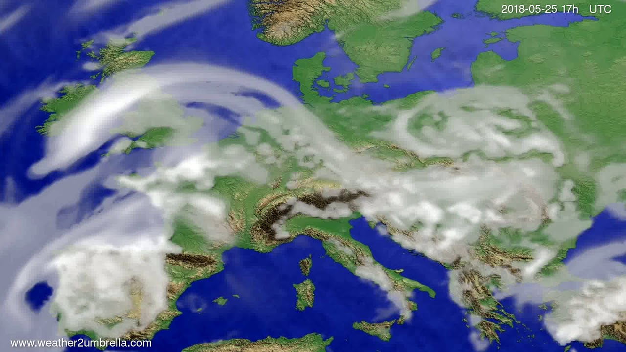 Cloud forecast Europe 2018-05-23