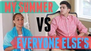 My Summer VS Everyone Else's (w/ MyLifeAsEva) | Brent Rivera
