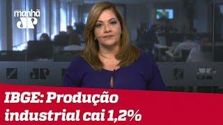 Denise: Produção industrial cai 1,2% e deve fechar ano com recuo