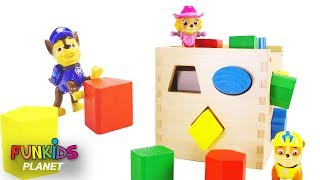 Learn Colors & Shapes for Kids: Paw Patrol Learn Shapes with Color Wood Blocks