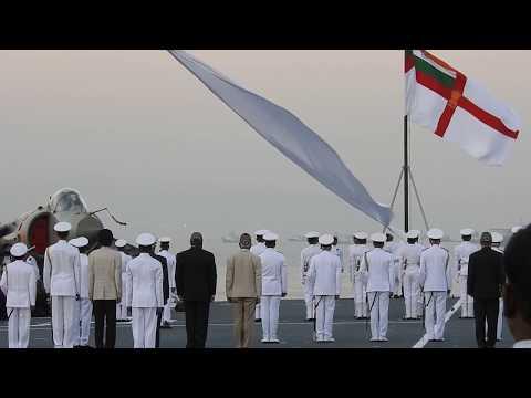 <center>lowering the ensign</center>