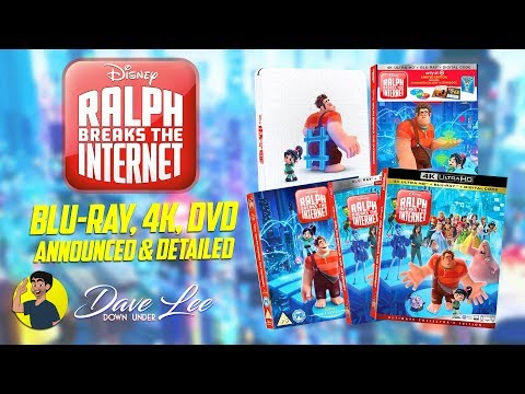 RALPH BREAKS THE INTERNET - Blu-ray, 4K, DVD Announced & Detailed