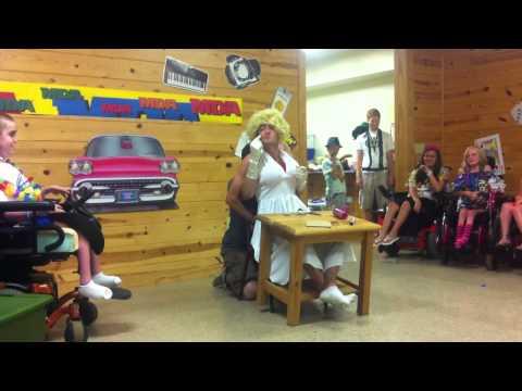 Marilyn Monroe Visits Camp