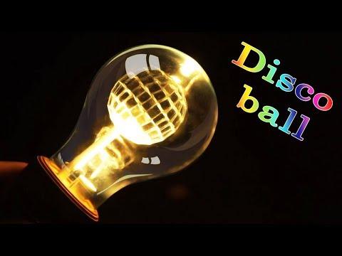 Building a Disco Ball Inside a Light Bulb