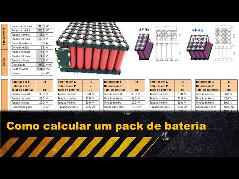 Como calcular um pack de baterias