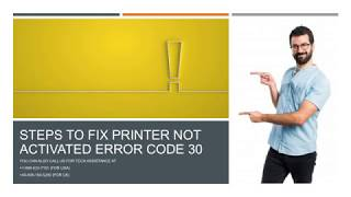 How to fix Printer not activated error code 30