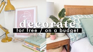 Decorate Your House For FREE / On A Tight Budget ✨ Budget Decorating Ideas