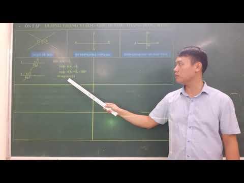 Ôn tập chương I - Đường thẳng vuông góc, đường thẳng song song Hình học 7