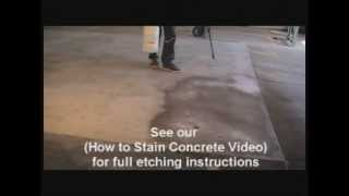 How to Stain Concrete- Porosity & Color is Critical