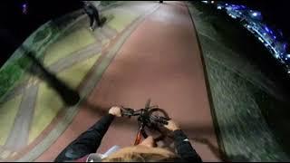 Сочи. Олимпийская набережная. 360 - 4к. Вечерняя поездка на велосипеде 2017