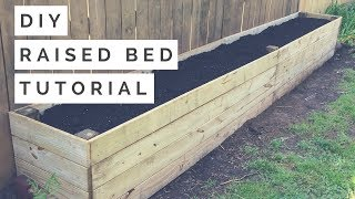 DIY Raised Bed / Planter Box Tutorial