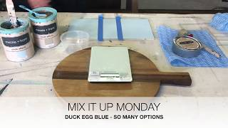 Mezzie + Frank Colour Mixing Tutorial - Duck Egg Blue