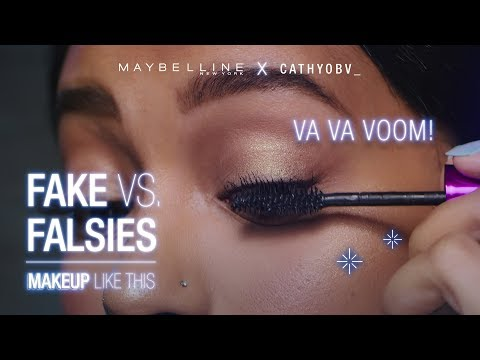 Is This Mascara As Good As Fake Lashes?! ft. Cathyobv_   Maybelline New York