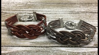 How To Make A Leather Celtic Knot Bracelet