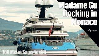 100m SuperYacht Docking in Monaco - Madame Gu
