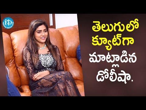 Actress Dolly Sha Cute Speech in Telugu   Bhagya Nagara Veedhullo Gammathu   iDream Movies
