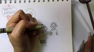 I used micron and  muji pens to draw #drawing #mujipens