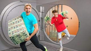 WE FOUND a TOP SECRET BANK VAULT ESCAPE ROOM!!