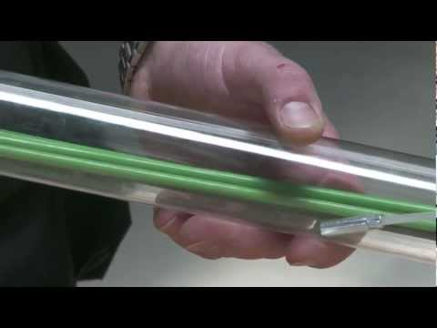 Product test of glass fibre cable puller rod from Greenlee
