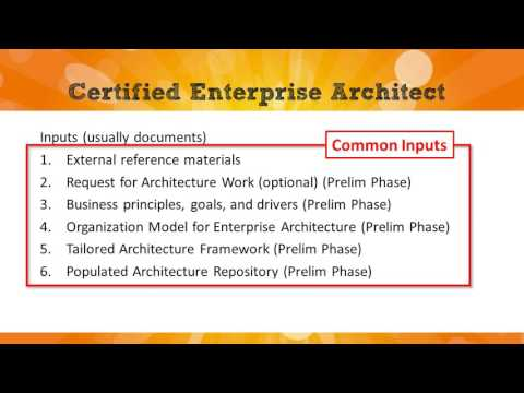 TOGAF Part 1 Exam: Phase A of the ADM - YouTube
