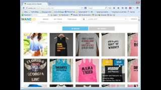 How to research new shirt design ideas using the Wanelo tool