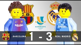 LEGO Final Supercopa 2017 BARCELONA - REAL MADRID Ida