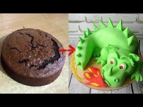 Как сделать 3д торт дракон